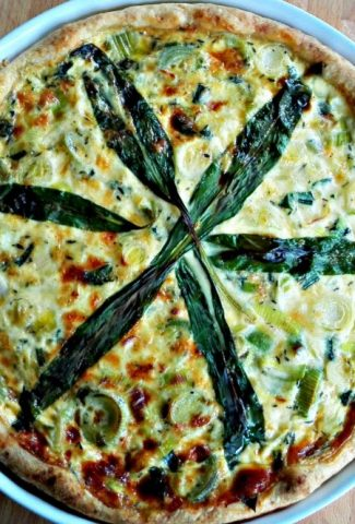 Leek Quiche with Wild Garlic