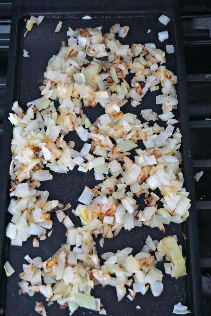 Matzo brei grilled onions