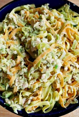 Fresh Pasta with Salmon and Avocado