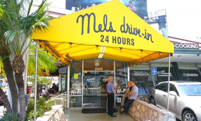 Mel's Drive-in on Sunset Boulevard