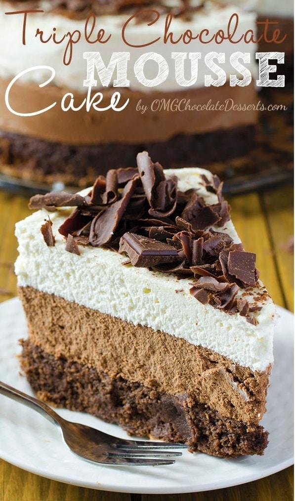 Triple Belgian Chocolate Cake