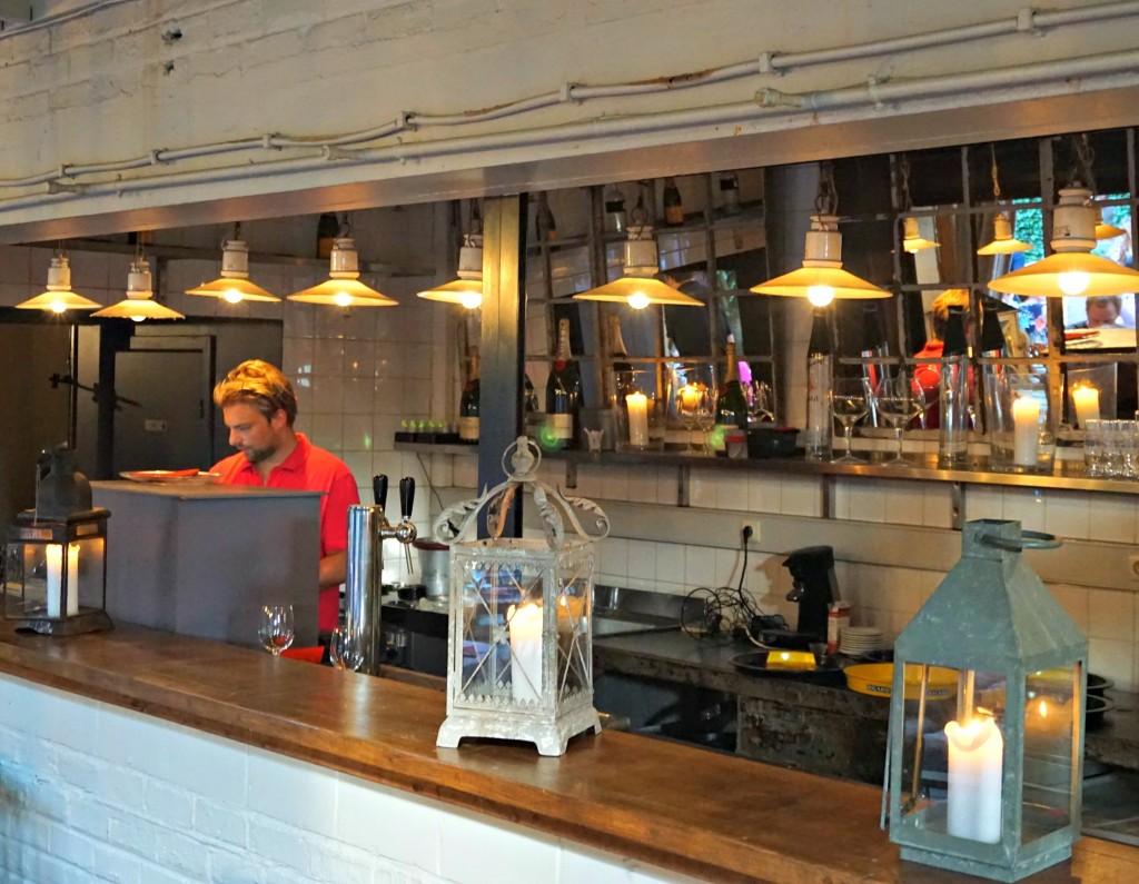 Chez Clément courtyard bar