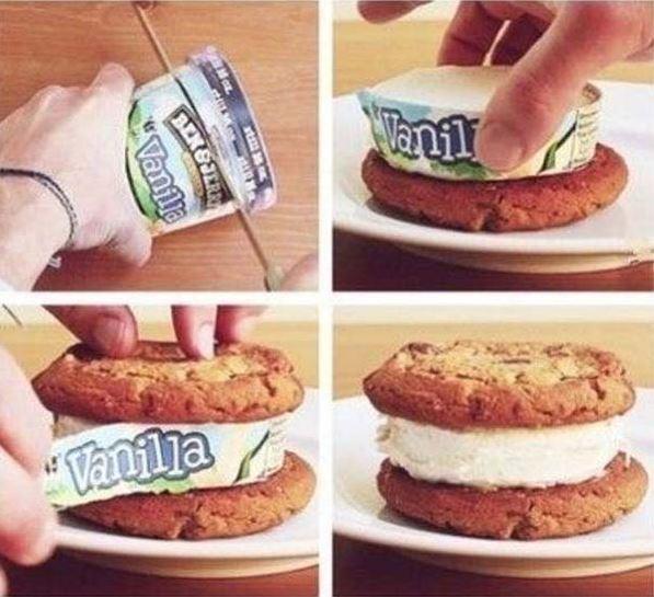 Fun food tricks: Making Ice Cream Sandwiches