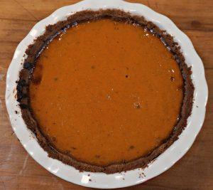 Speculoos Pumpkin Pie baked