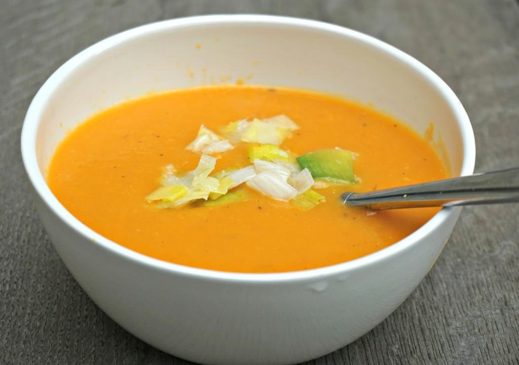 Pumpkin Soup with Leeks