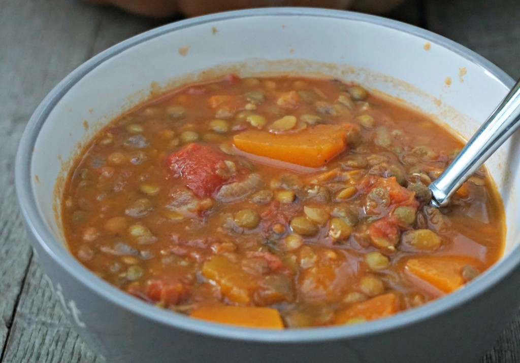 Big Bowl of Pumpkin Lentil Soup