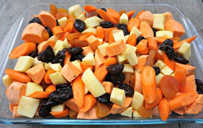 Sweet Potato Casserole before oven