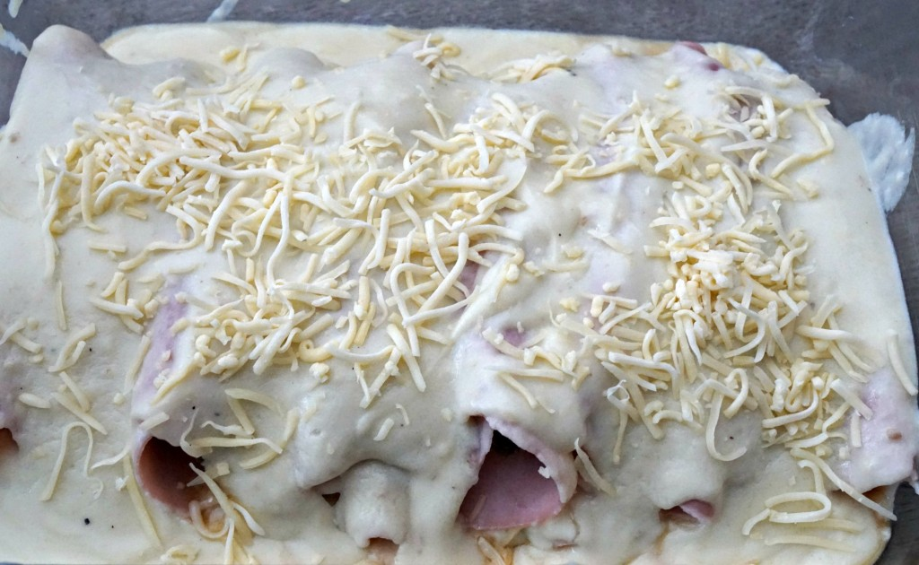 Chicons au gratin before oven