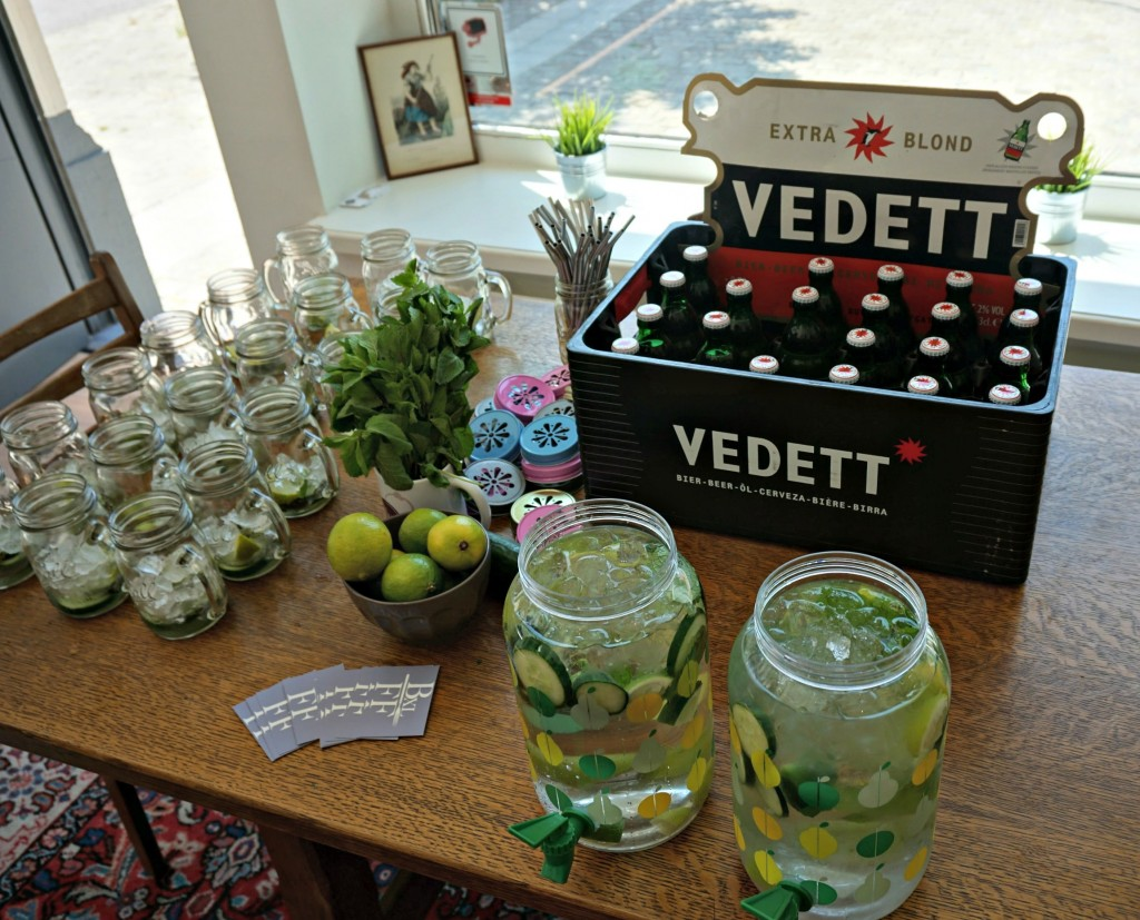 Flavored Water and Vedett Beer