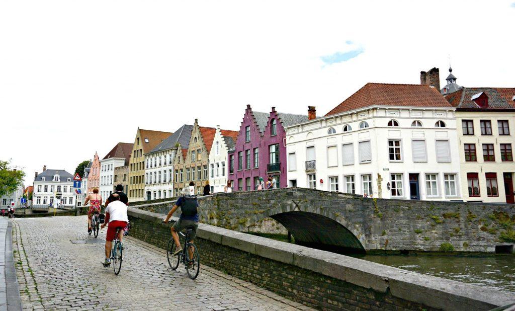 Bikes along a canal
