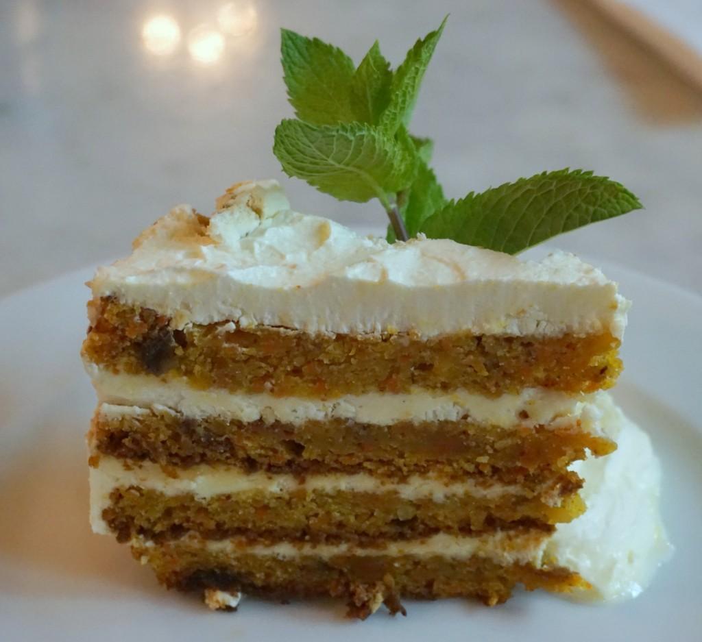 Carrot Cake at the Bourla Café Restaurant