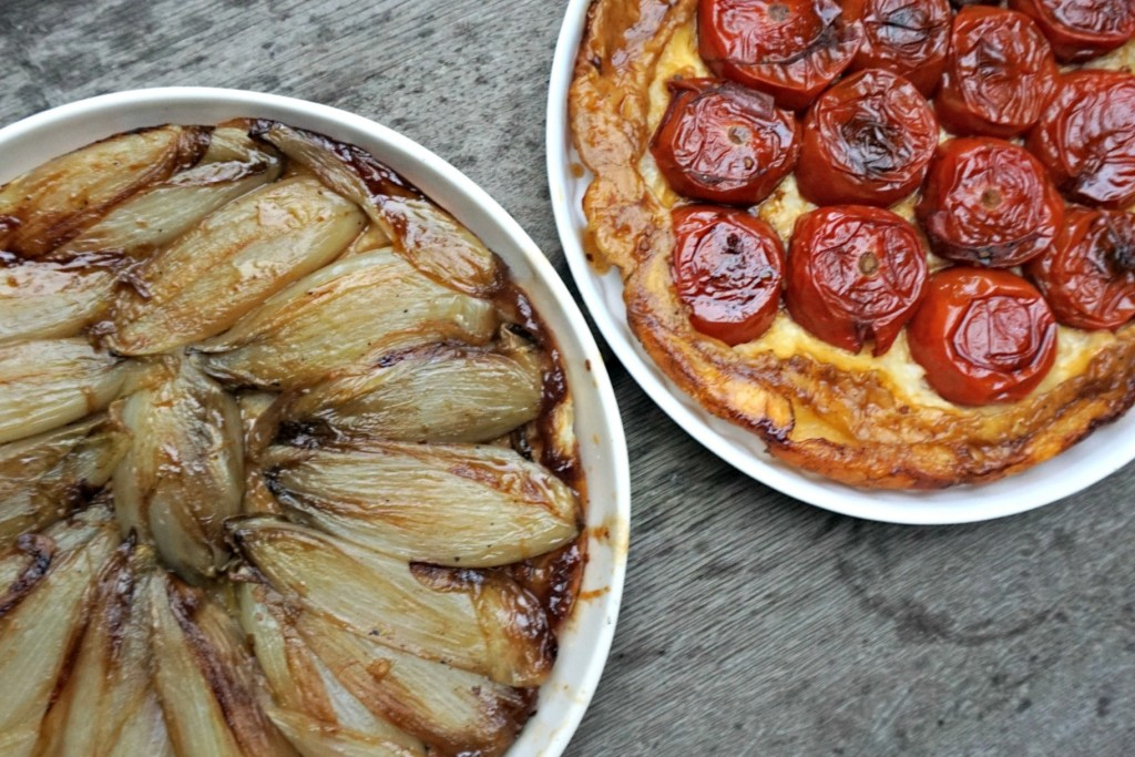 Belgian Endive and Tomato Pies