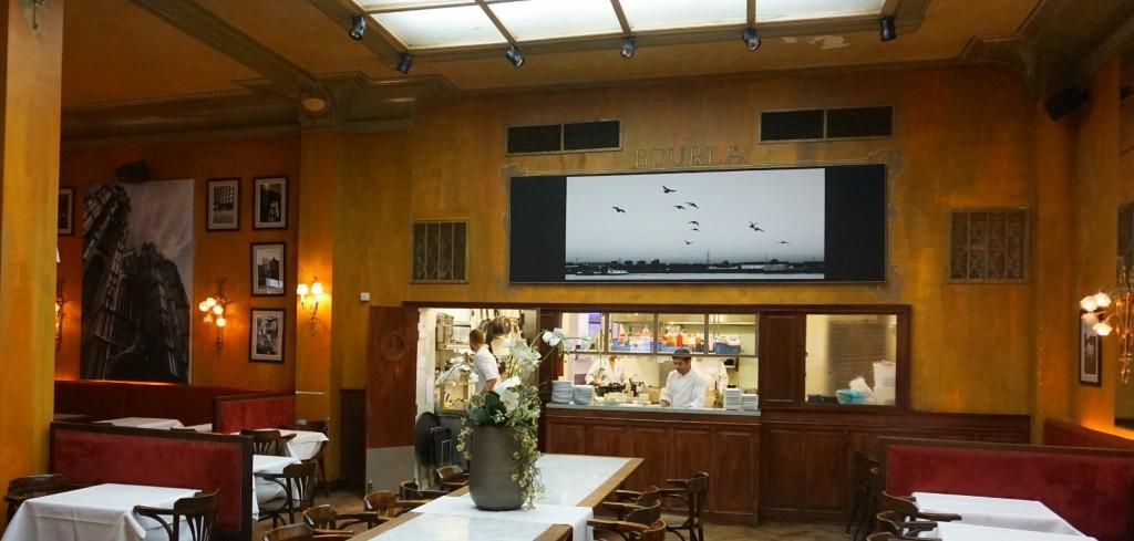 Kitchen at the Bourla Café Restaurant