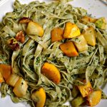 Pasta with Arugula Pesto and Zucchini