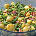 Salade Liégeoise:  Green Beans and Bacon