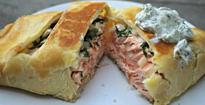 Open Crusted Salmon
