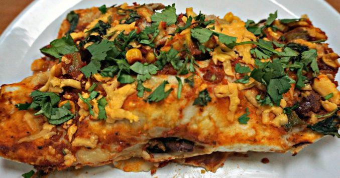 Vegetarian Enchiladas portion