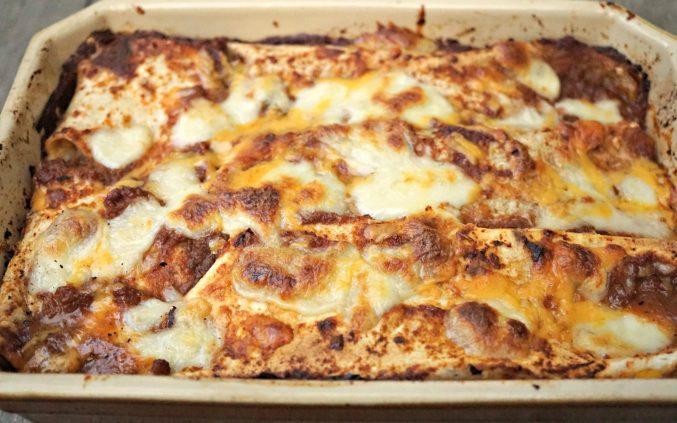 Vegetarian Enchiladas platter