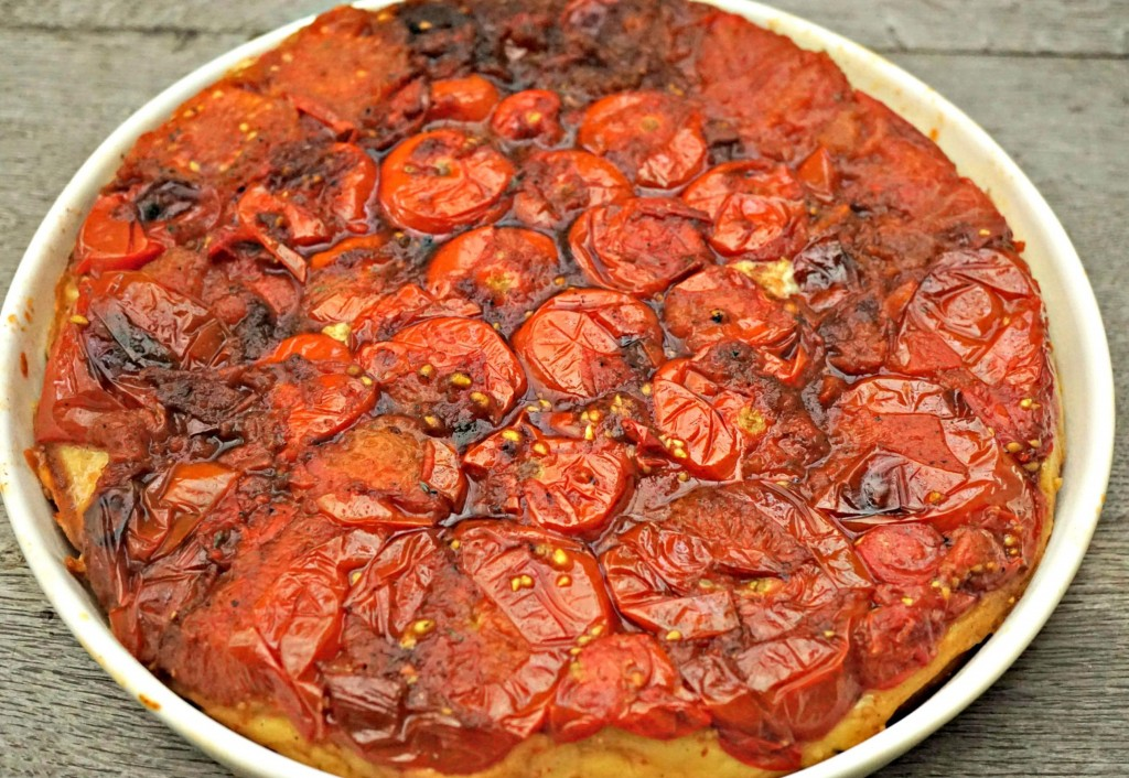 Tomato Tarte Tatin baked