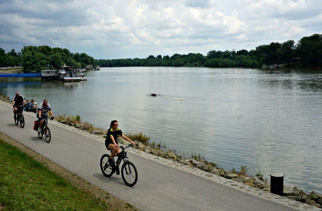 Danube River Szentendre bikes Central Europe