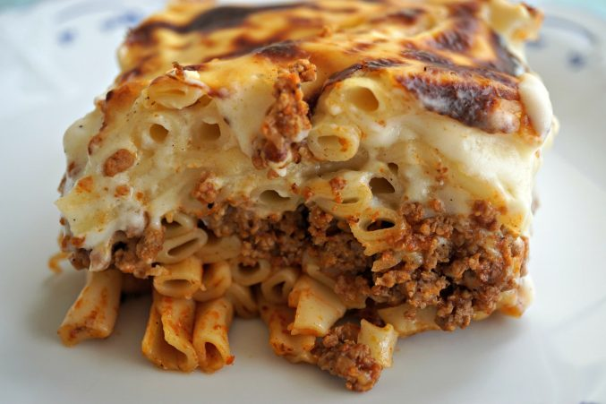 Pasticcio Serving Upclose