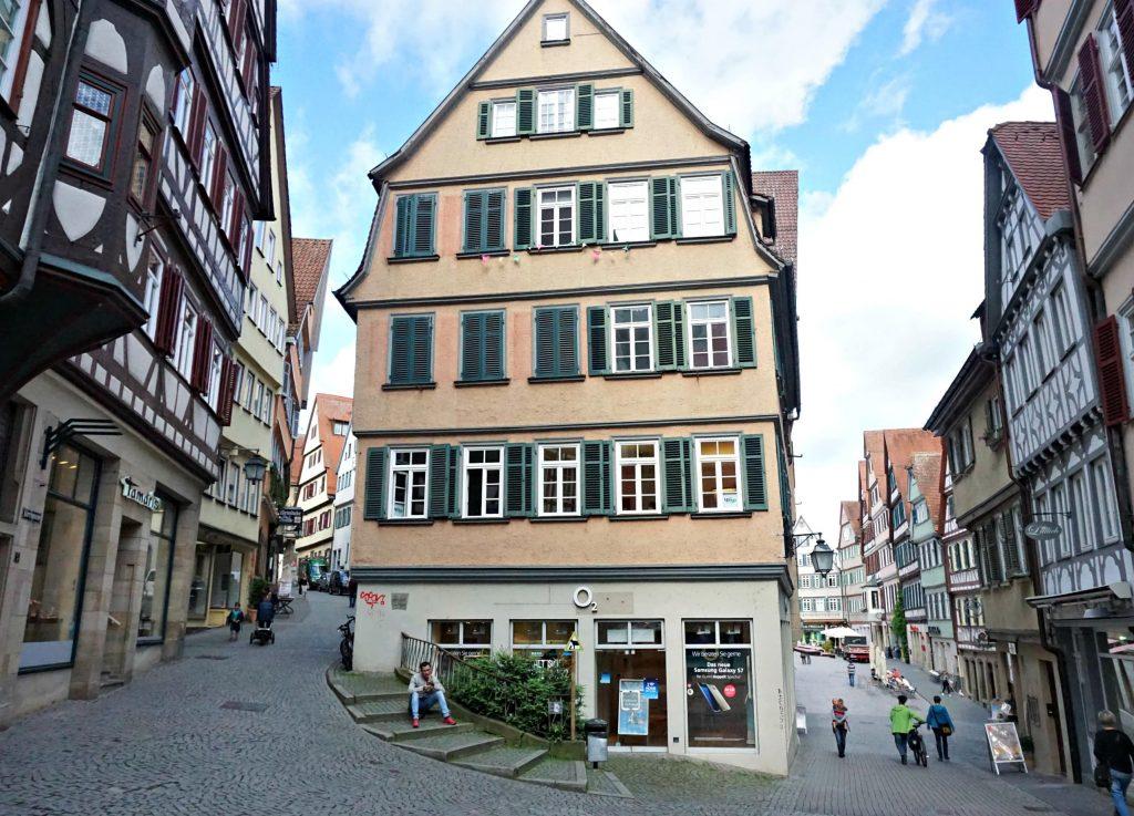 Tubingen pastel houses Central Europe