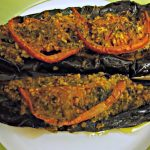 Papoutsakia – Greek Stuffed Eggplants