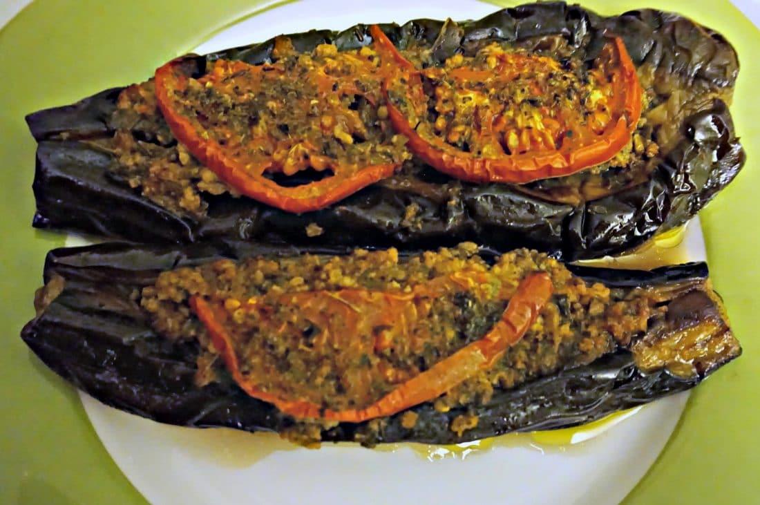 Papoutsakia - Stuffed Eggplants