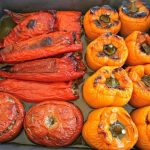 Greek Stuffed Peppers and Tomatoes