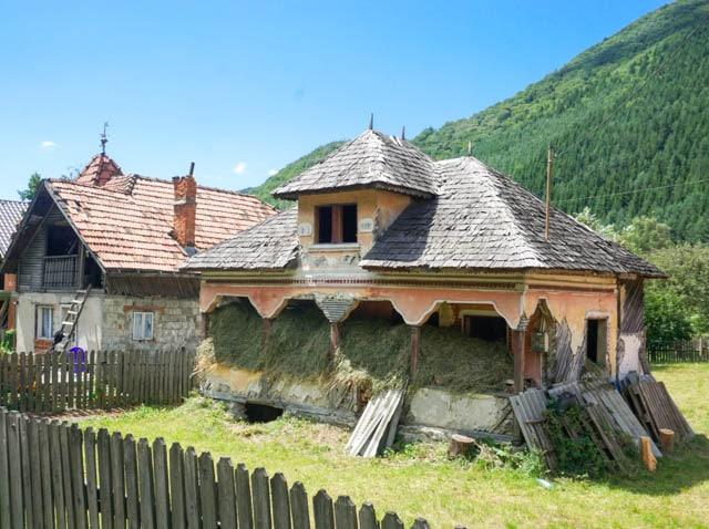 Hay Barn Countryside Romania