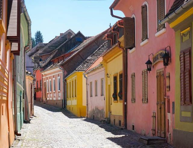 Sighisoara pastel homes - Romania