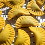 Pumpkin Ravioli with Spinach and Goat Cheese