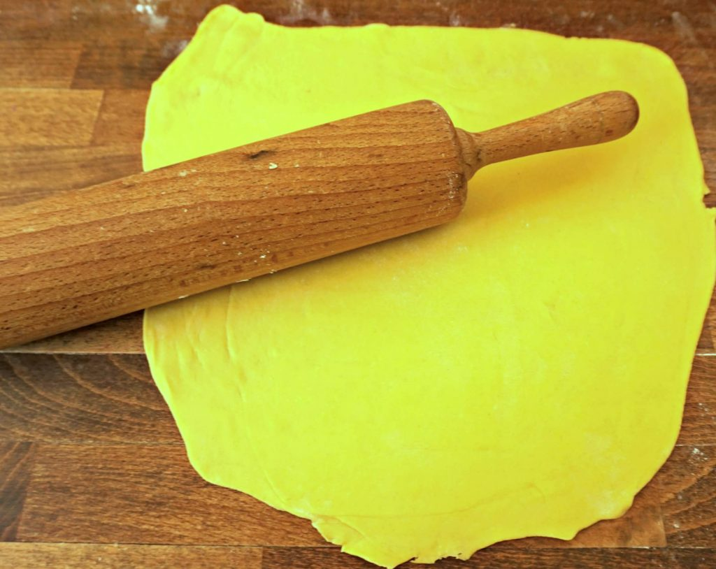 Rolling Pumpkin Dough - Pumpkin Ravioli