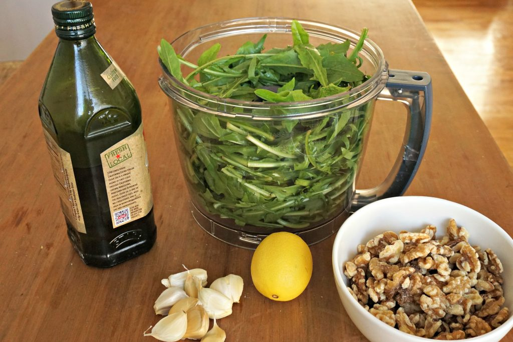 Dandelion Pesto Ingredients
