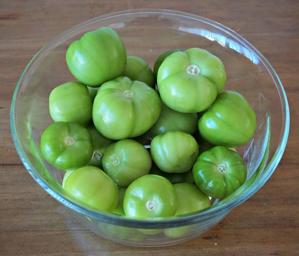 Tomatillo Jalapeno Jam - whole tomatillos