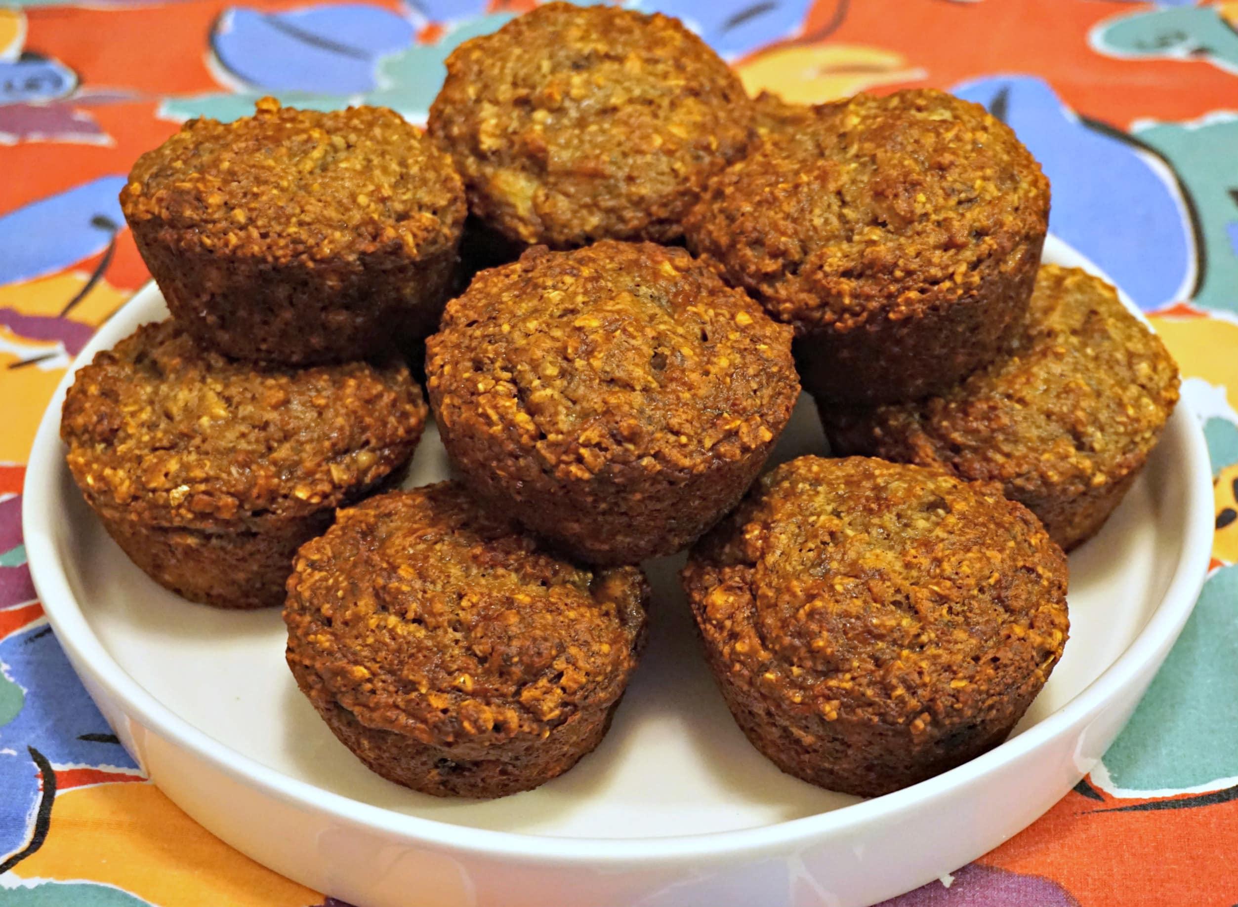 Vegan Banana Oat Muffins Platter
