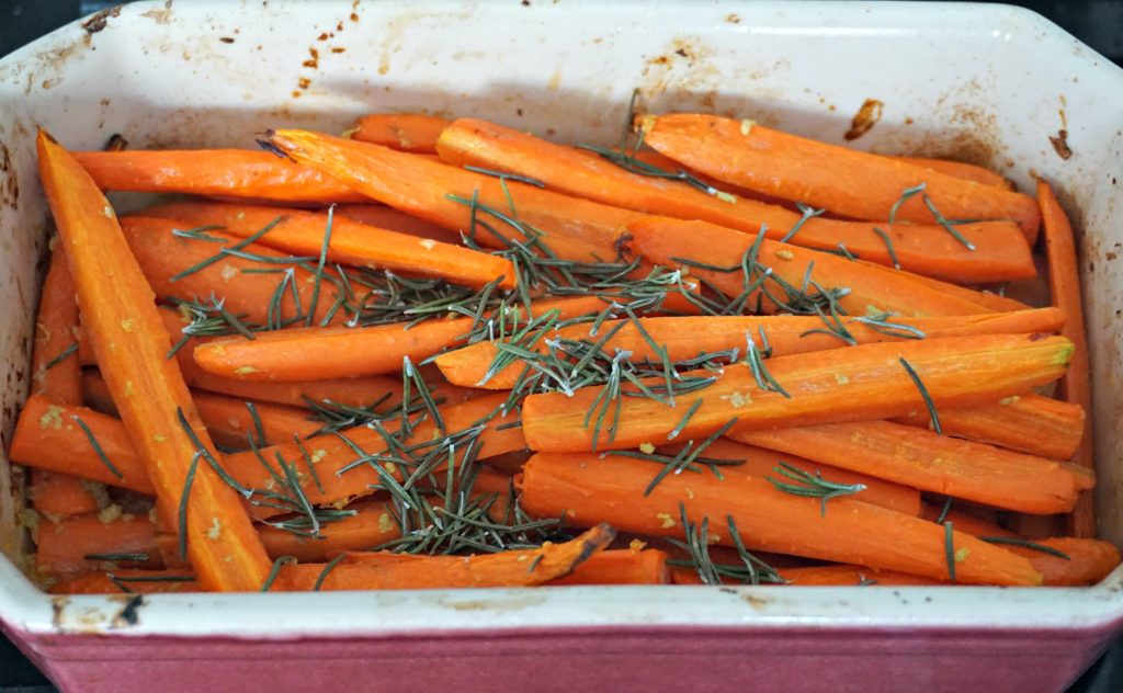 Carrot Rosemary Garlic Soup dish