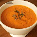 Roasted Carrot Rosemary Garlic Soup