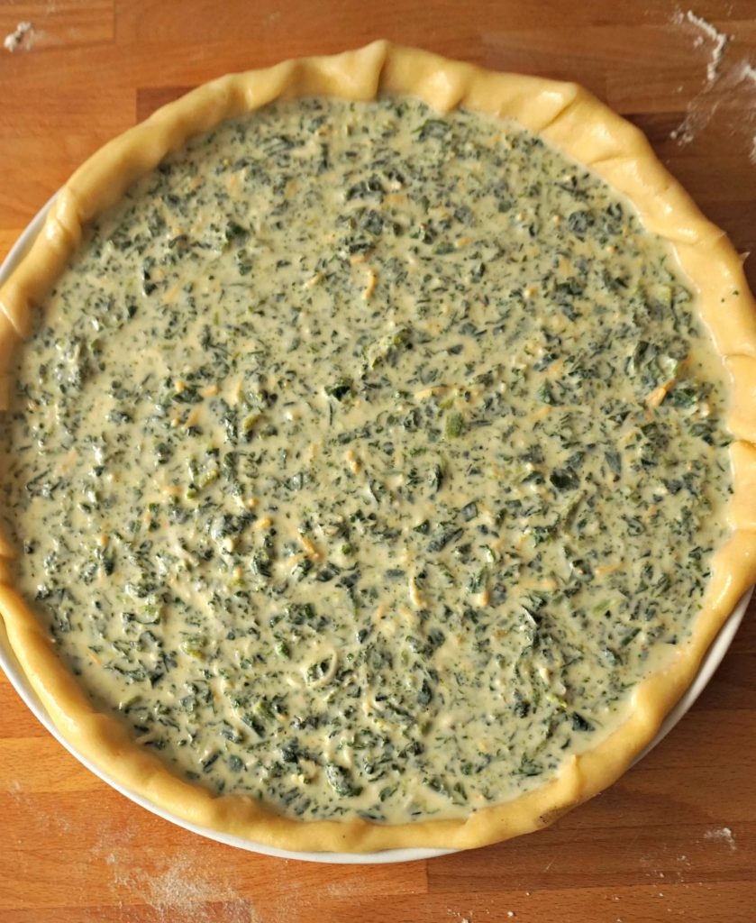 Quiche before Baked - Quiche Recipe