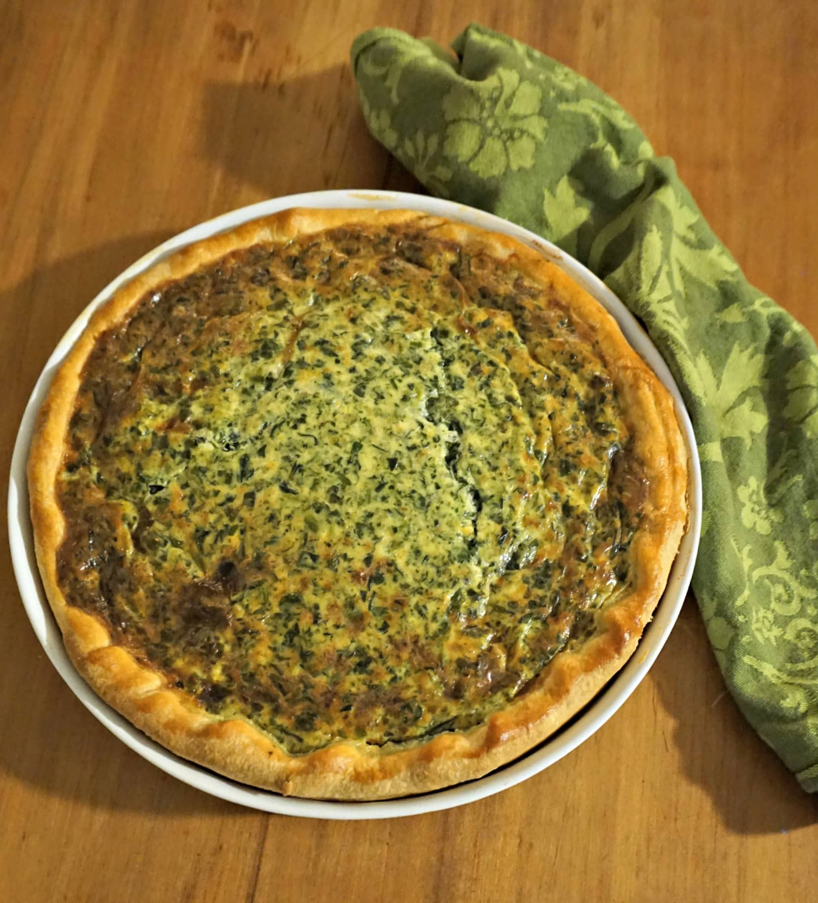 Spinach Ricotta Quiche Recipe