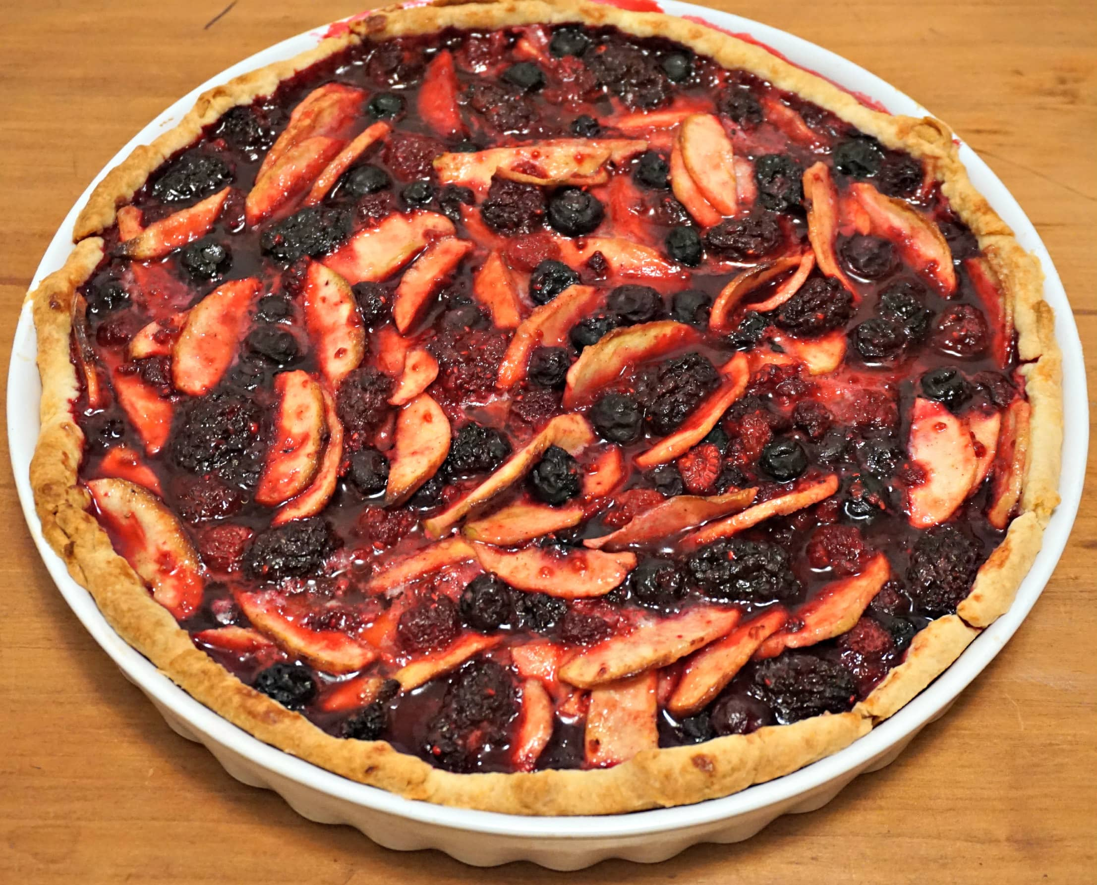Baked Bumbleberry Pie