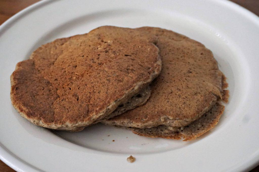 Tofu Vegan Pancakes Served
