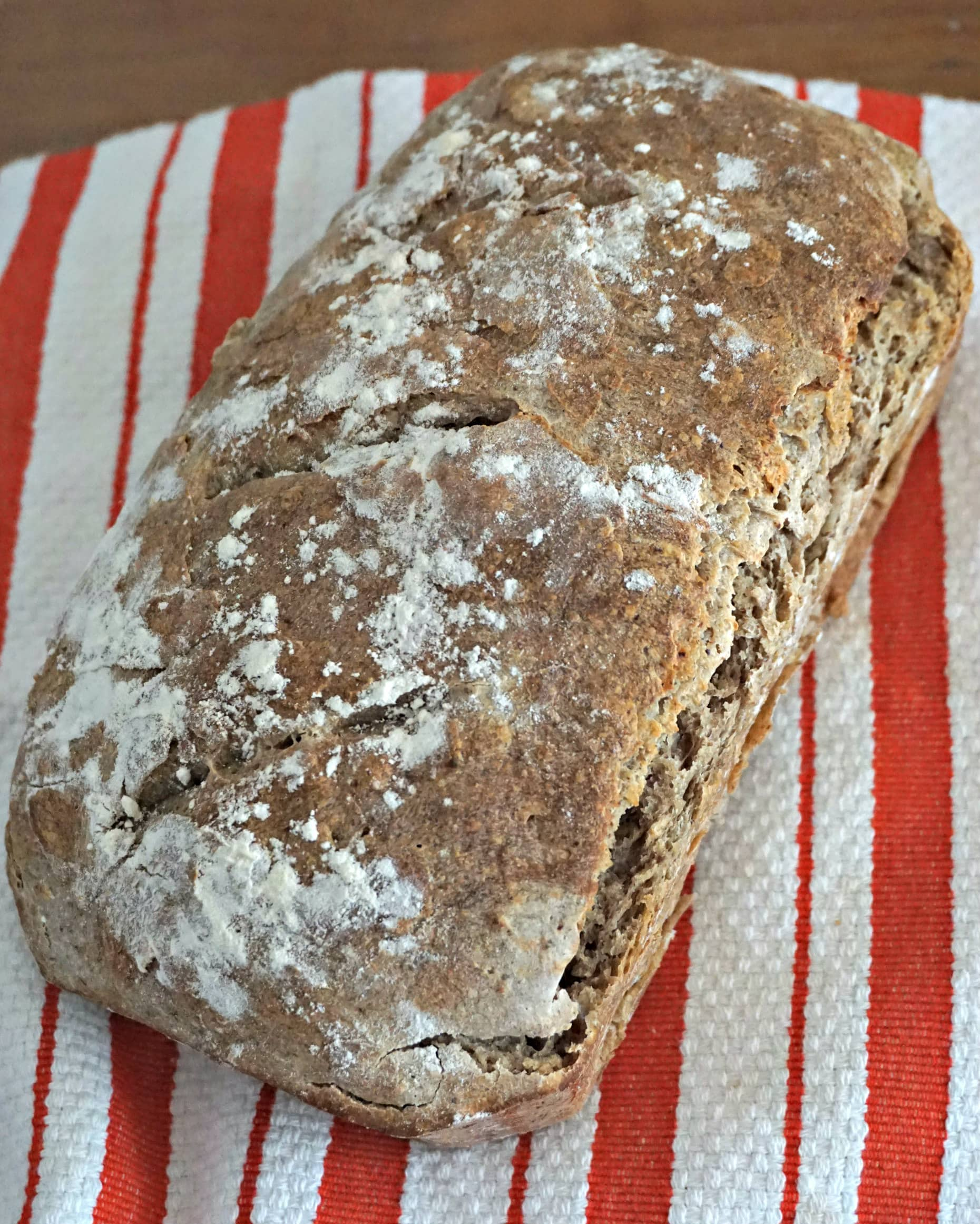 Making Bread - mixed grain sourdough cloth