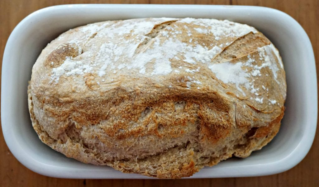 Making bread - sourdough bread pan