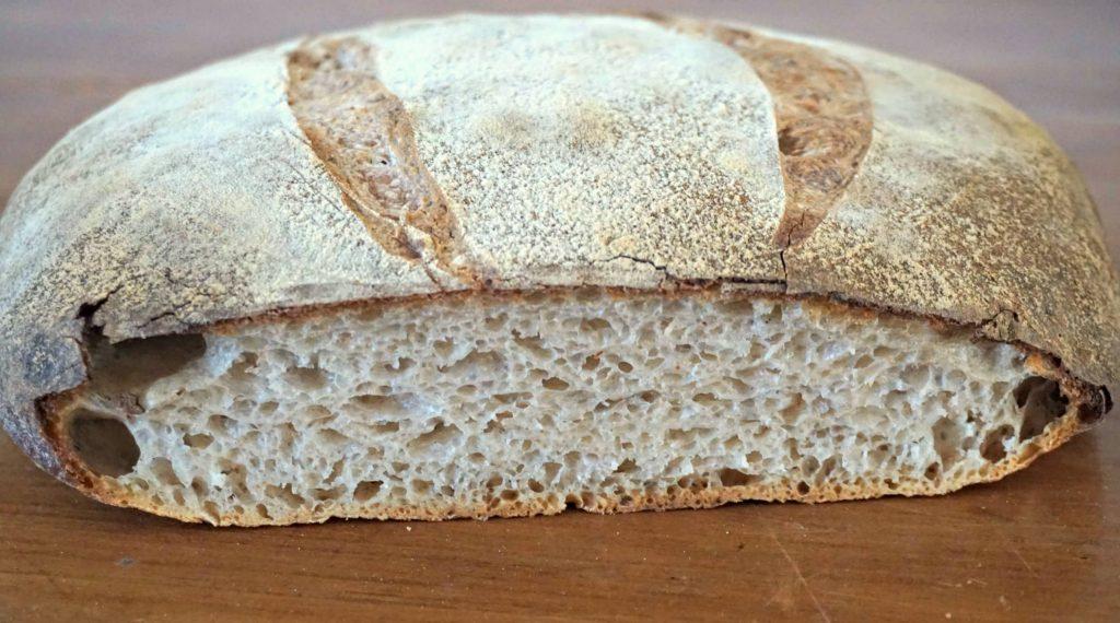 sourdough bread smiling open