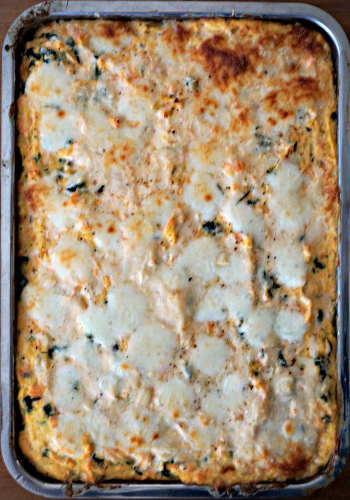 Baked Salmon Lasagna Platter