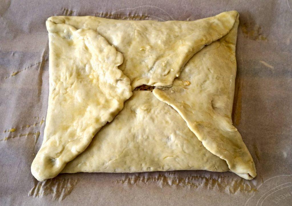 Unbaked Folded Khachapuri - Tasting Georgia