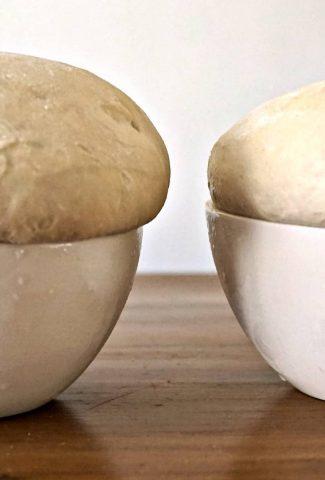 Risen Sourdough Pizza Dough